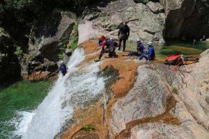 Canyoning et escalades à la Vacca en Corse avec Xtremsudcanyon